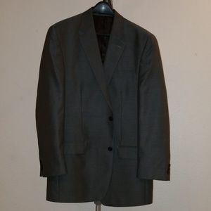 3 piece 2 button polyester blend gray tic suit